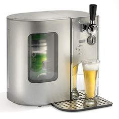 The Countertop Beer Cooler And Tap - Hammacher Schlemmer