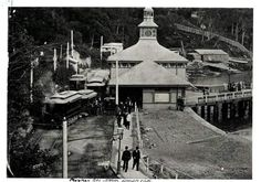 Ferry Wharf at Mosman Bay,in northern Sydney (year unknown). The electric tram service to Mosman wharf was completed in Australian Continent, Largest Countries, Small Island, Tasmania, Historical Photos, Continents, Sydney, Outdoor Structures, North Shore