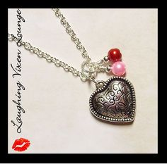 Valentine Necklace  Heart Jewelry  All My by LaughingVixenLounge