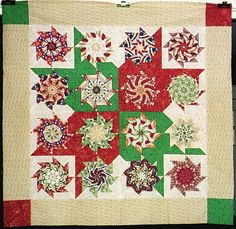 Christmas stack and whack quilt I would like to try this with red, white, blue for a quilts of valor