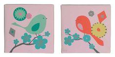 Modern Blossom Wall Art - Set of 2 >>> Awesome deals : Nursery Decor