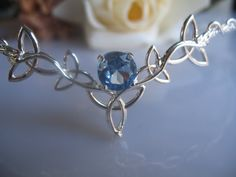Celtic Trinity Knot Circlet Wedding Headpiece Bridal by Camias
