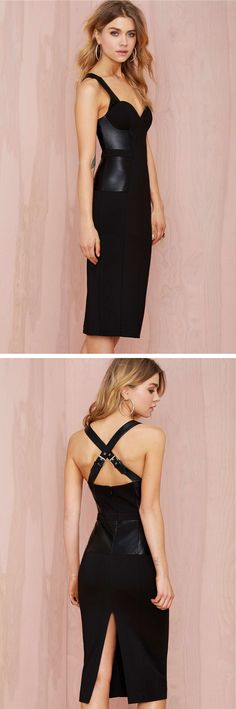 #NastyGal All Business Bustier Dress