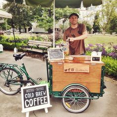 Delicious frothy cold brew from Cold Brew Bike.