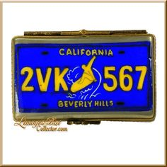 California Automobile License Plate Limoges Box (Retired)