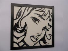 Cuadro Pop Art Calado con Láser / Pop Art Laser Cutting Picture