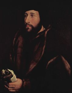Portrait of a man with a letter and gloves by @artistholbein #northernrenaissance