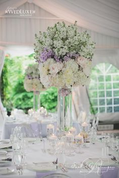 Creatively Glamorous Wedding Ideas - wedding centerpiece. photo: Mango Studios