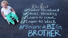 Ideas for baby boy announcement with siblings second child Second Child Announcement, Big Brother Announcement, Creative Pregnancy Announcement, Baby Boy Announcement, Baby Announcements, Boy Baby Shower Themes, Baby Boy Shower, Baby Girl Birthday Decorations, Baby Bump Pictures