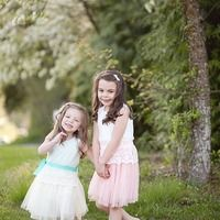 Lace tutu dresses in Mint and Coral - Thumbnail 4