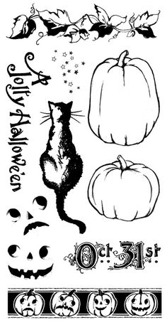 Graphic 45 - Hampton Art - Happy Haunting Collection - Halloween - Cling Mounted Rubber Stamps - Happy Haunting Two at Scrapbook.com $10.99