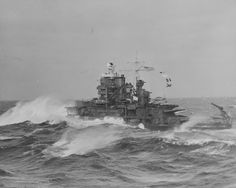 A badass USS Mississippi steaming through some heavy weather in the North Atlantic, September during a neutrality patrol. Us Battleships, Sailboat Art, Capital Ship, Military Diorama, Big Guns, United States Navy, Navy Ships, Sea World, Model Ships