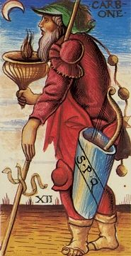 Sola Busca Tarot -- Hanged Man