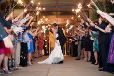 Austin Wedding Photographer, Sparkler Exit, University of Texas ATT Center, (c) Lahra Bryant Photography