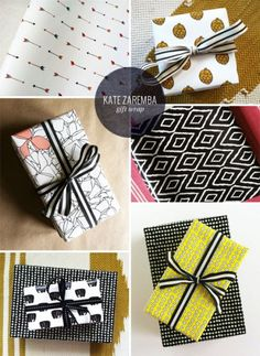 Modern, Patterned Gift Wrap   Kate Zaremba
