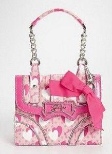 New Guess Pink Multi Pin Up Purse Handbag Crossbody Sac