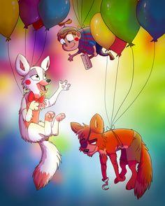 Balloon Party by Darkpaw2001 on DeviantArt OMG SO CUTE! except for balloon boy. EVERY ONE HATES U, BALLOON BOY!!! SCREW U!!