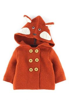 Free shipping and returns on Mini Boden Knit Jacket (Baby Boys) at Nordstrom.com. Mouse ears or a cute little face bring playful charm to a hooded knit jacket with double-breasted button closure.