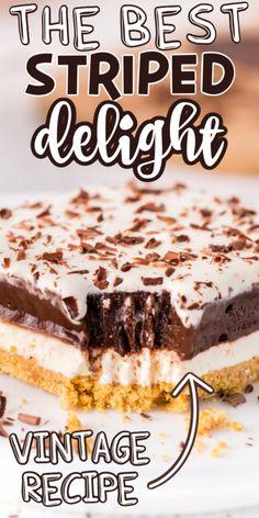 Icebox Desserts, Icebox Cake Recipes, Fluff Desserts, Potluck Desserts, Dump Cake Recipes, Dessert Recipes, Cheesecake Recipes, Pie Recipes, Recipies