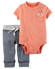Baby Boy 2-Piece Neon Bodysuit Pant Set | Carters.com