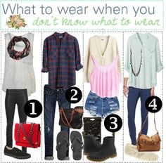 """What To Wear When You Don't Know What To Wear. ♥ (:"" by the-polyvore-tipgirls ❤ liked on Polyvore"