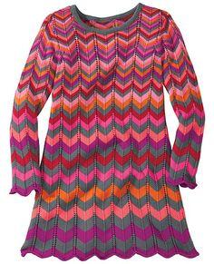 Flamestitch Sweater Dress from #HannaAndersson. Size 100
