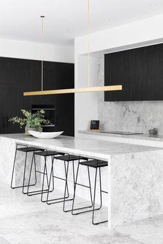 Kitchen Room Design, Modern Kitchen Design, Home Decor Kitchen, Kitchen Living, Interior Design Kitchen, Home Kitchens, Living Room, Küchen Design, House Design