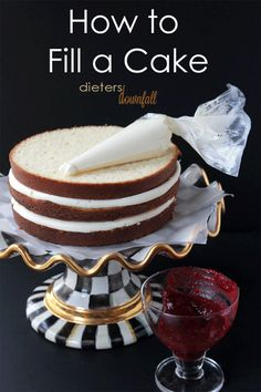 How to Fill a layered cake. from #dietersdownfall.com