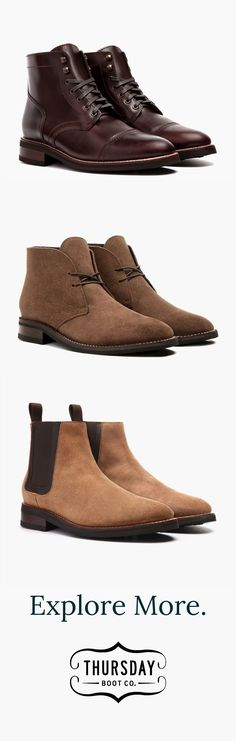 Men's boots starting at $149 w/ free shipping & returns. Several styles available. Handcrafted with the highest quality materials.