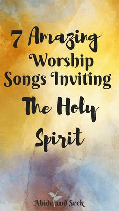 I have compiled 7 amazing worship songs that have spoken to my heart and have let the Holy Spirit fill me! I hope you enjoy each line as much as I have and really engage yourself in the inexpressible joy that fills you when you let the Spirit take over! Holy Spirit Quotes, Holy Spirit Prayer, Praying In The Spirit, Spirit Song, Worship Leader, Worship God, Church Songs, Praise And Worship Songs, Christian Songs