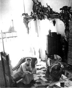 Tove Jansson at her atelier