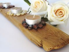 Driftwood candleholder - Style At Home