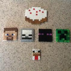 Minecraft perler beads by ayd_nog_nstuff Minecraft Perler, Minecraft Stuff, Fun Ideas, Craft Ideas, Minecraft Birthday Party, Creeper, Bead Patterns, Diy Crafts For Kids, Perler Beads