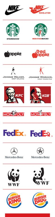 Famous brands in communist style by Zoki Cardula, via Behance
