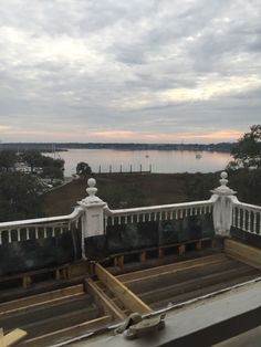 View from the 3rd floor of Anchorage 1770...porch is being restructured.  Can't wait to be open!  #anchorage1770  #beaufortsc