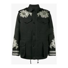 Alexander Mcqueen Sequin Embroidered Military Jacket (£2,915) ❤ liked on Polyvore featuring men's fashion, men's clothing, men's outerwear, men's jackets, black, men's embroidered bomber jacket, mens sequin jacket and alexander mcqueen mens jacket