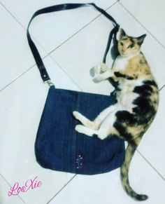Recycle old jeans into sling bag