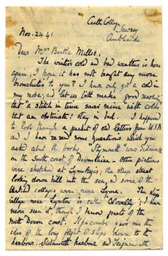letter from beatrix potter to bertha mahony miller