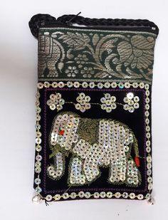 New Thai Elephant Wallet Purse Bag Fabric Coin Gift Souvenir Handcrafted Zipper