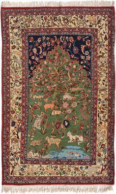 Schuler Auktionen Zürich  |  Isfahan Z-Iran, um 1960  112x175 cm (ft. 3.7x5.8).