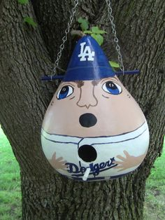 LA Dodgers Baseball Player Birdhouse Gourd by inmypaintedgarden, $28.95