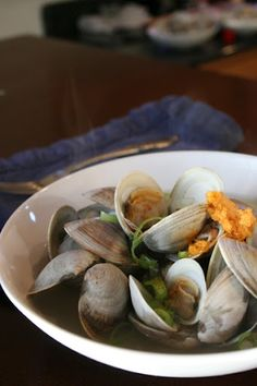 ... sake steamed clams with sriracha compound butter sake steamed clams