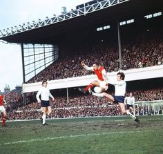 Arsenal 0 Tottenham 1 in Feb 1974 at Highbury. John Radford is stooped by Mike England in the Division clash. Arsenal Match, Arsenal Fc, Arsenal Football, Malta News, Tottenham Hotspur Players, Football Stadiums, New England, Basketball Court, Seasons