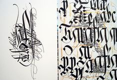 Calligraphy  by Claudio Gil / So beautiful.