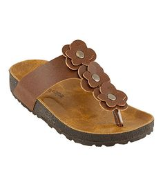 Love this RK Collection Brown Triple Bloom Sandal by RK Collection on #zulily! #zulilyfinds