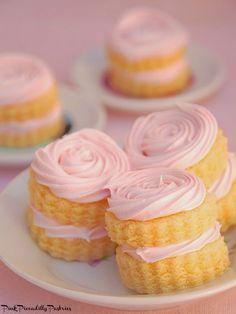 An Impromptu Barbie Tea Party - Pink Lemonade Mini Cakes!
