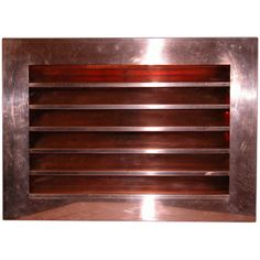 Louvered Gable End Vents are made of 16 ounce copper or stainless steel.  There are many standard sizes and mounting styles available.  Louvers are fixed and the vent is screened to keep insects and animals out.  Custom size louvered wall vents are avialble.