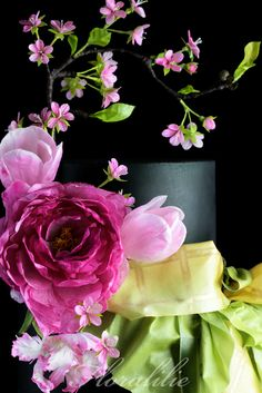 Japanese Spring Cake - Wafer Paper Flowers | Floralilie Sugar Art