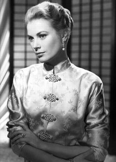 Grace Kelly in a Chinese dress.