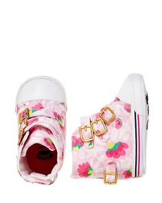 Floral Print High Top Sneaker by Juicy Couture Baby Couture, Juicy Couture, Baby Girl Shoes, Girls Shoes, Baby Sneakers, High Top Sneakers, Bling Baby Shower, Baby Chloe, Baby Baby